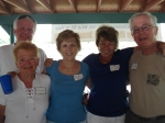 From left: John Ericsson, Barb Tanner Hightower, Alice Graue Smith, Bev Jarrett Jump, Scott Hightower and Mike Kelley (n
