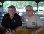 Scott Hightower and Mike Kelley at the Aug. 2010 Multi-Class Picnic hosted by the Class of 1963.