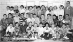 1955 - Martensen Elementary - Sixth Grade. Back row, left to right: Jay Capra, Tony Politano, Jim Neighbors, Ann Gravins