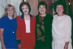 Left to right: Alice Graue Smith, Gene Ann Linkins Latenser, Judy Besel Trautwine, Karen Littlepage Thomas
