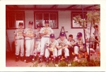 1956 - Summer Baseball - General Fruit and Produce. Left to right: Dick Fohn, Bill Howell, Doug James, Al Capra, Chuck L