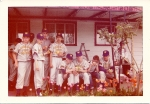 1956 - Summer Baseball - General Fruit and Produce. Left to right: Bill Howell, Doug James, Coach Dave Marsh, Al Capra,