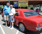 June 25, 2011 Multi-Class Picnic. Dick Fohn (left) and Al Capra (right) next to Al's beautifully restored Mustang.