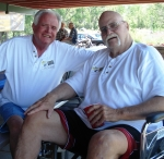 June 25, 2011 Multi-Class Picnic. John Ericsson left) and Ron Ferguson. Ron seemed to enjoy the occasion and did a lot o