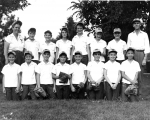 Year unknown: Summer Softball. Front row, left to right: Diane Mayer, Barbara Bergen, Jody Burns, Unknown, Unknown, Unkn