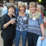 Welcoming Social.  l-r:  Stephie Sachoff Townsend, Peggy Evans Beverly, Judy Kulp Zelenski