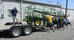 Loading the people hauler after Carnation Festival Parade. Now, to lunch!
