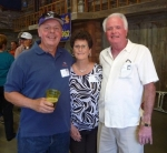 Terry Taylor (l) with Jerrie Belec Ericsson and John Ericsson at Farmers Barn Dinner.
