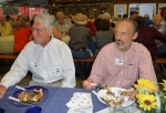 Rich Martinez (l) with Ned Pearce at Farmers Barn Dinner.
