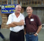 Steve Case (l) with Mike Day at Farmers Barn Dinner.