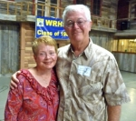 Scott Hightower with Barb Tanner Hightower at Farmers Barn Dinner.