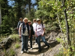 Girl Scout Troop 129 annual reunion trip to Pagosa in 2011.  Still hiking!  l-r:  Windy Elliot, Irma Johnson Princic, Ba