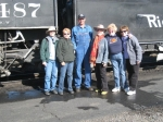 Girl Scout Troop 129 on annual reunion trip - Cumbres Toltec Railroad ride.  October 2011