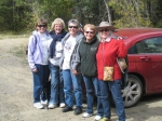 Girl Scout Troop 129 reunion in Pagosa Springs, October 2011, hosted by Barb Tanner Hightower.  Days included hanging ar