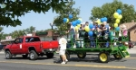 Gary Rigg's truck and 'people hauler' trailer in the Carnation Festival Parade.