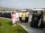 Golf Outing. Left to right: Gwen Anderson Cooke, Barb Lazzeri Herring, Alice Graue Smith, Mary Lou Bradbury, Nancy Fland