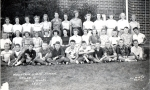 1955 - Mountain View School Grade 6. Front row left to right: Harold Precht, Joe Breheny, Dick McCracken, Unknown, Ken G